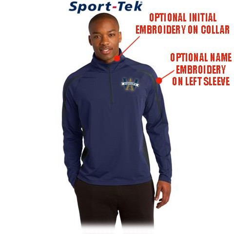 Archbishop Williams High School SanMar Sport-Tek® Sport-Wick® Stretch 1/2-Zip Colorblock Pullover