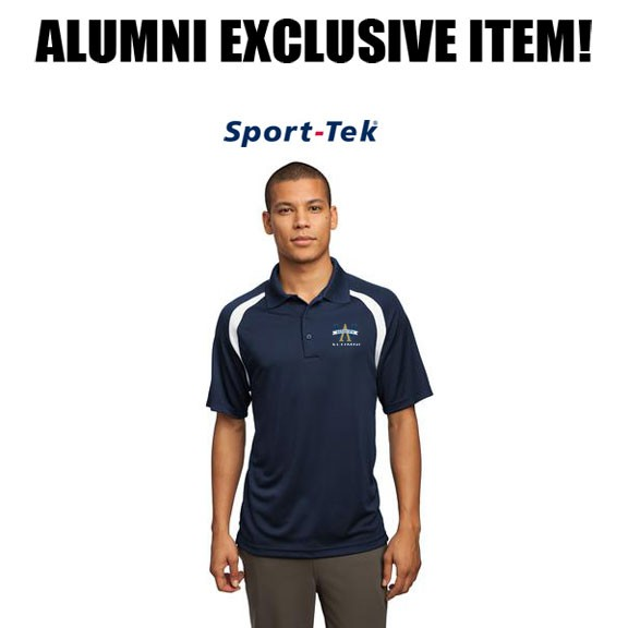 Archbishop Williams High School ALUMNI Mens SanMar Sport-Tek® Dry Zone® Colorblock Raglan Polo