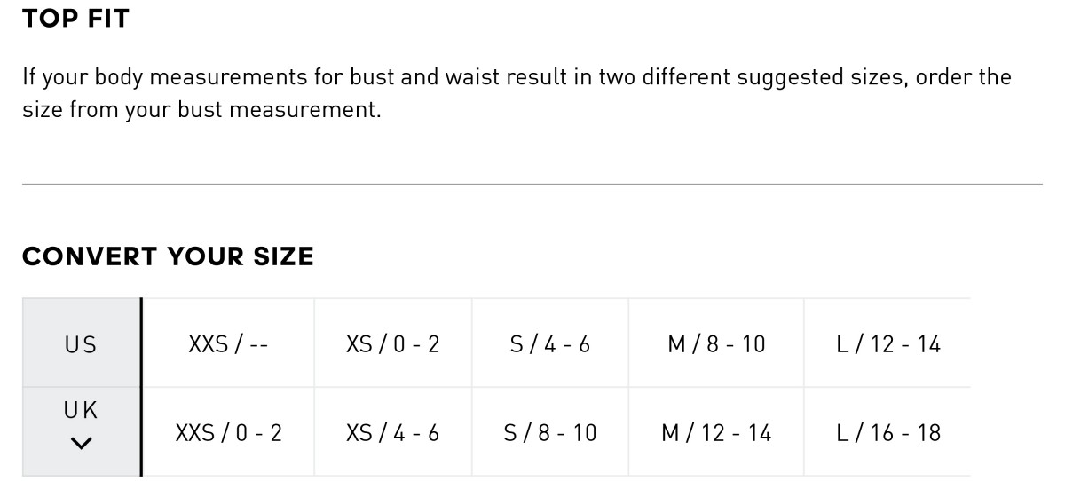 adidas size guide pants