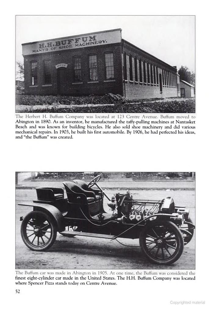 HH Buffum Shoe Machinery (and Automobiles!!!) of Abington, 123 ...