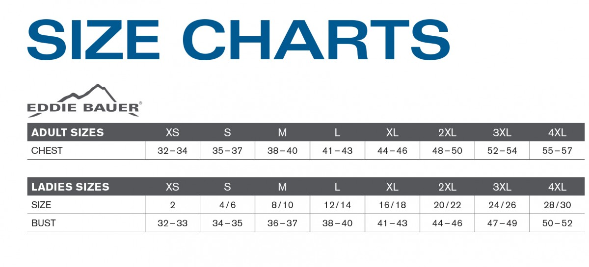 More Views Size Chart Ed Bauer