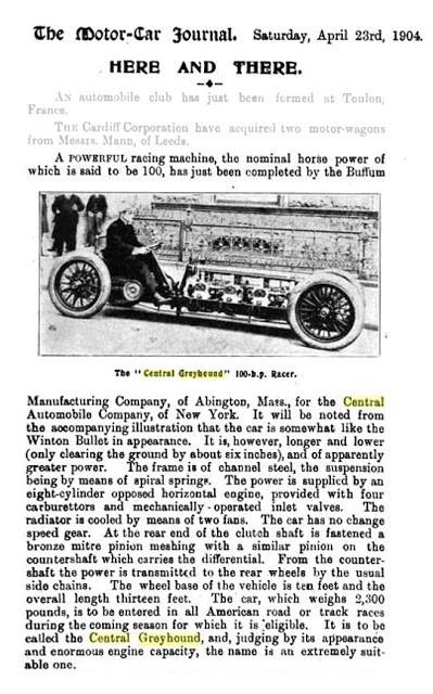 Buffum 8 Cylinder Cars of Abington