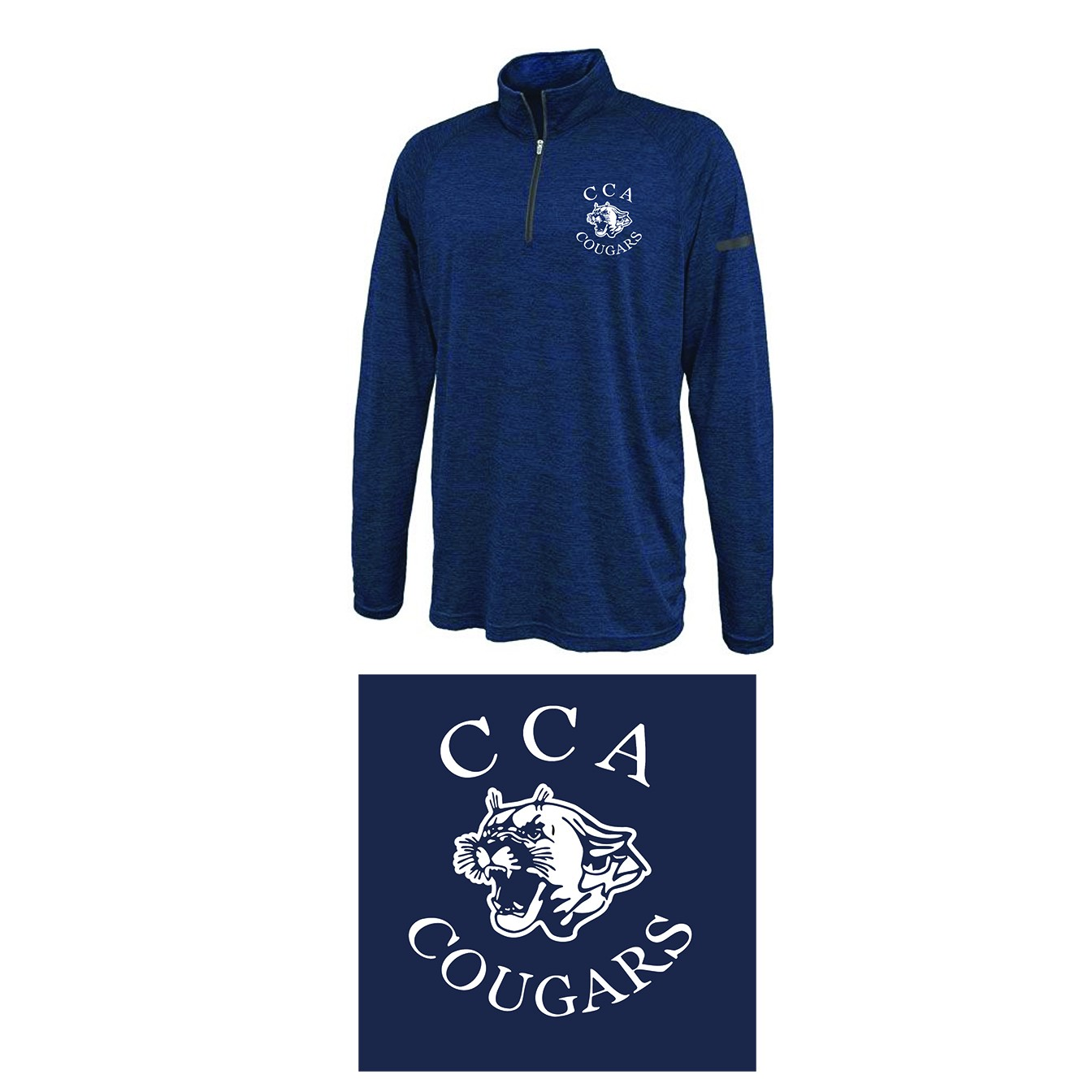 Calvary Chapel Academy Pennant Sportswear Stratos 1/4 Zip, Youth Sizes