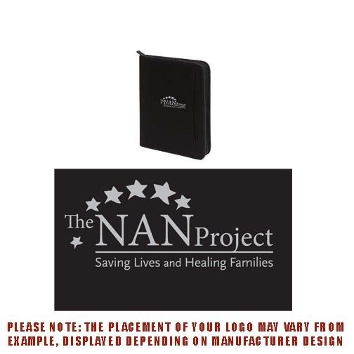 The NAN Project Liberty Bags Zip Around Padfolio- - BULK ORDERING ONLY