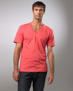 American Apparel Drop Ship Organic Cotton Short Sleeve V-Neck 2456ORG- CLEARANCE