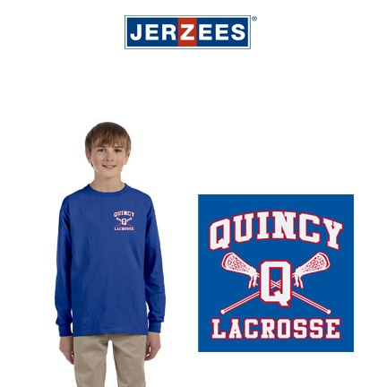 Quincy Lacrosse Jerzees Brand Youth 5.6 oz., DRI-POWER® ACTIVE Long-Sleeve T-Shirt