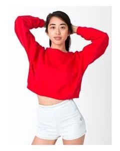 American Apparel Ladies' California Fleece Cropped Sweatshirt 5336