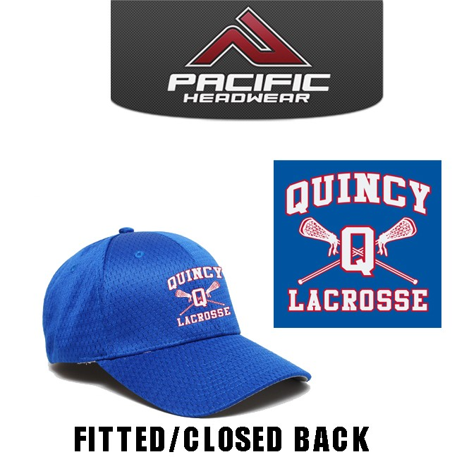 Quincy Lacrosse Pacific Headwear Brand 808M Coolport Mesh Cap, Fitted Sizes