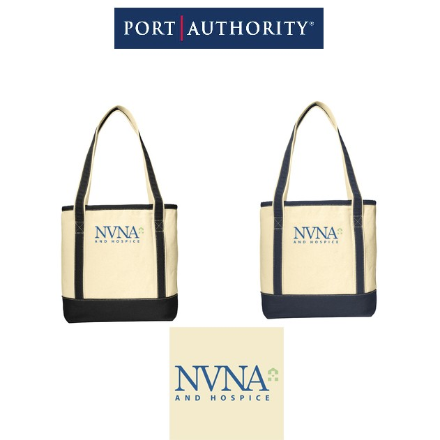 NVNA And Hospice Port Authority® Medium Cotton Canvas Boat Tote