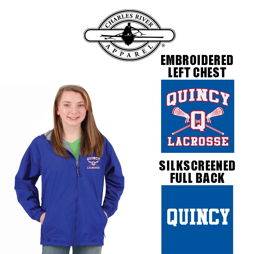 Quincy Lacrosse Charles River Portsmouth Jacket, Youth Fit