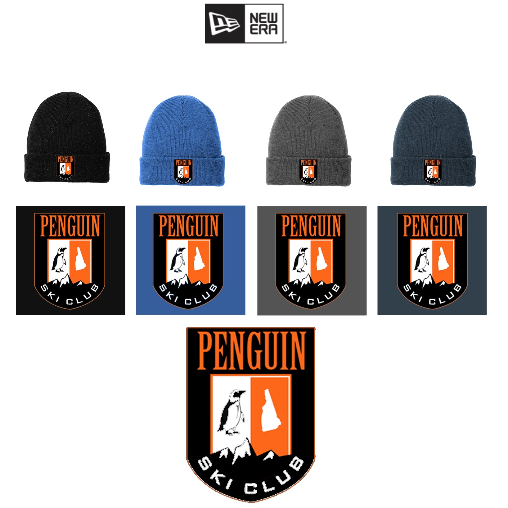 50355764881 Penguin Ski Club New Era ® Speckled Beanie