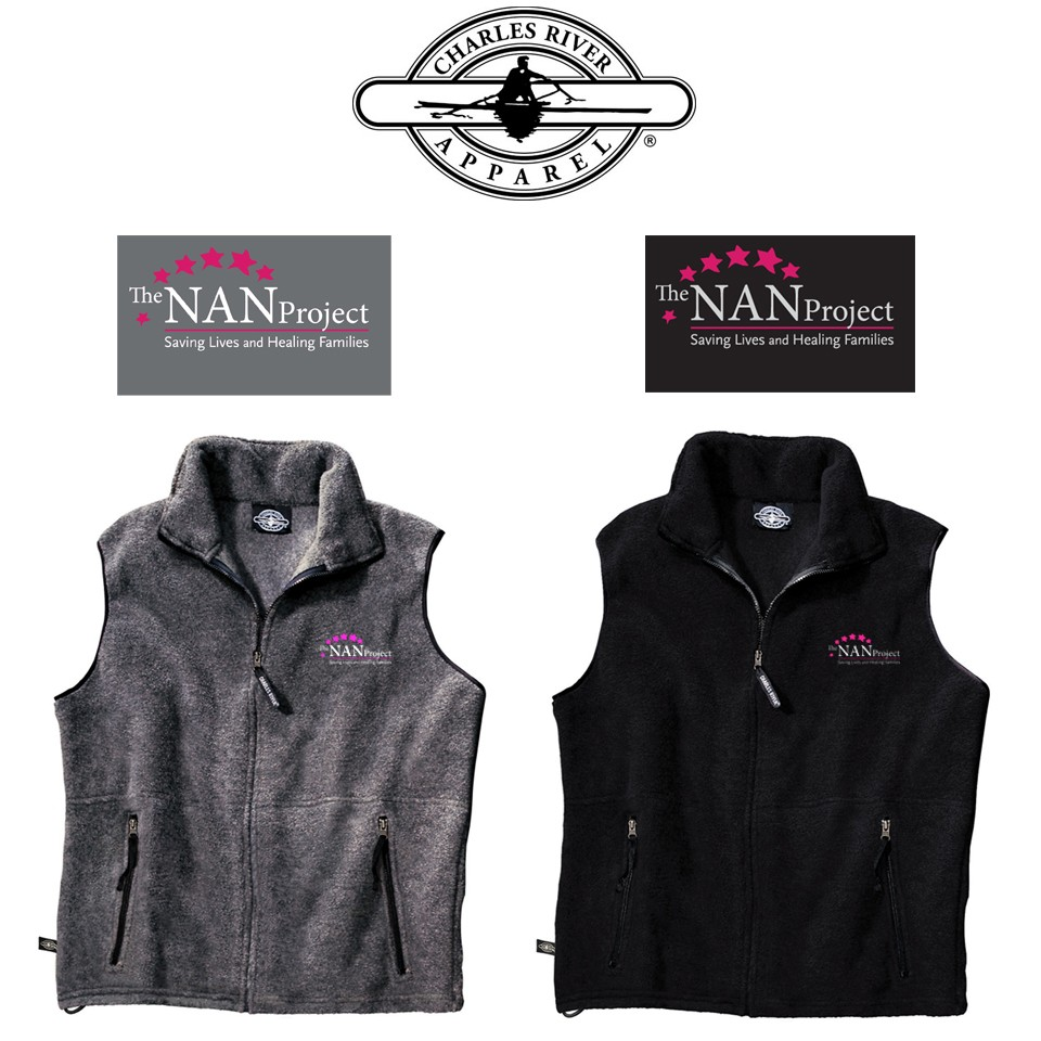 The NAN Project Charles River Brand Ridgeline Fleece Vest for Adult Unisex/Men