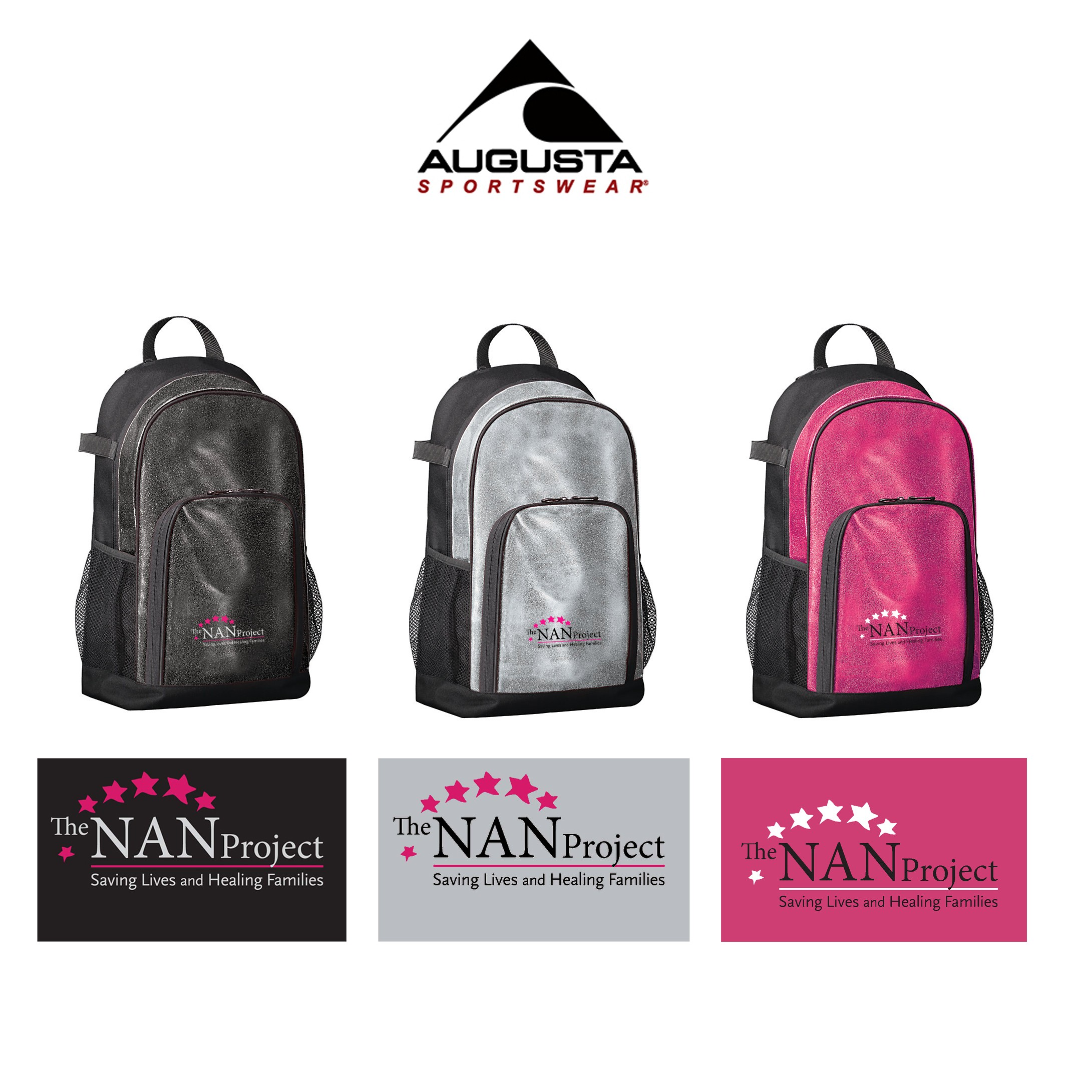 The NAN Project Augusta All Out Glitter Backpack