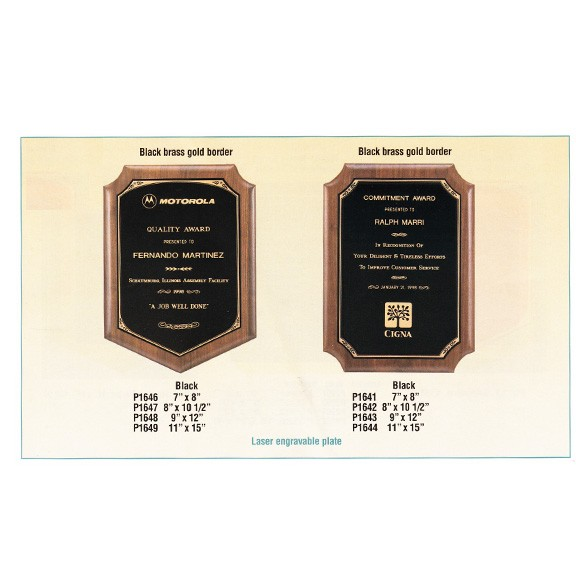Airflyte Solid American Walnut plaques P1641-P1649