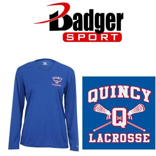 Quincy Lacrosse Badger Brand Ladies Core L/S Tee (Performance Comfort Dry)