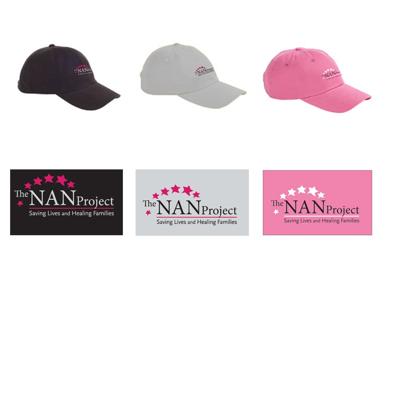 The NAN Project Big Accessories Brand 6-Panel Brushed Twill Unstructured Cap