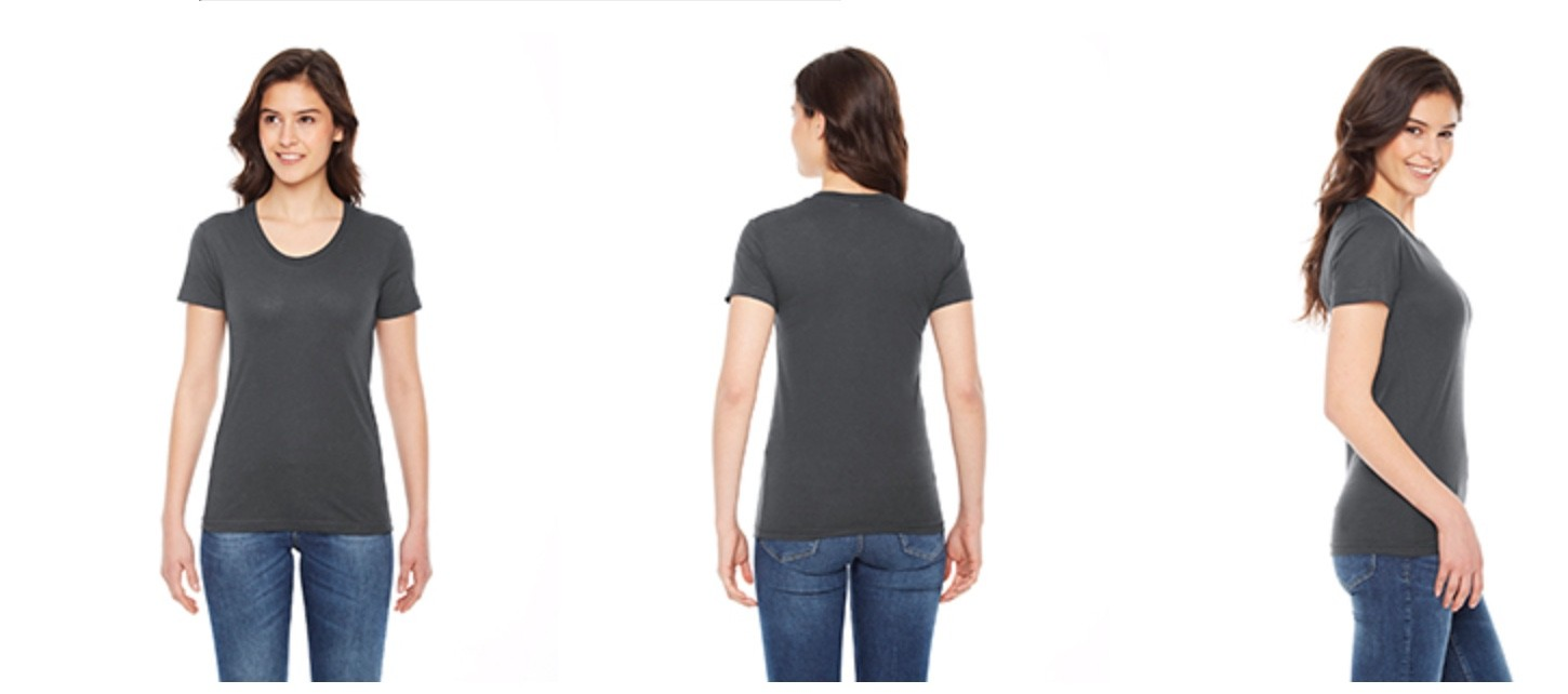 American Apparel Women's Poly-Cotton Crew Neck T-Shirt BB301W