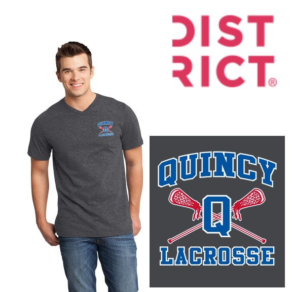 Quincy Lacrosse District ® Very Important Tee ® V-Neck (Mens)