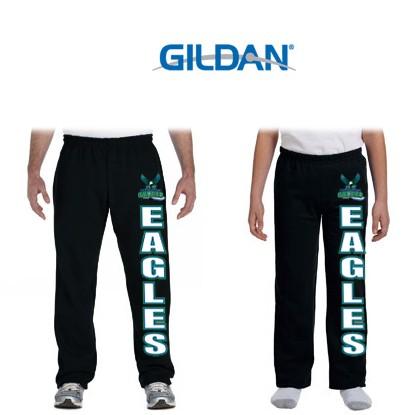 South Shore Eagles Gildan Brand HeavyBlend 8oz Open Bottom Sweatpants