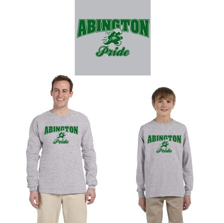 "Abington Town apparel ""Abington Pride"" 100% Cotton Long Sleeve Tee"