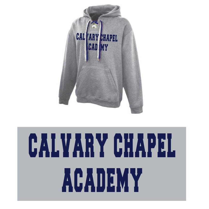 Calvary Chapel Academy Pennant Sportswear FaceOff 2-Lace Hoodie, Adult Sizing