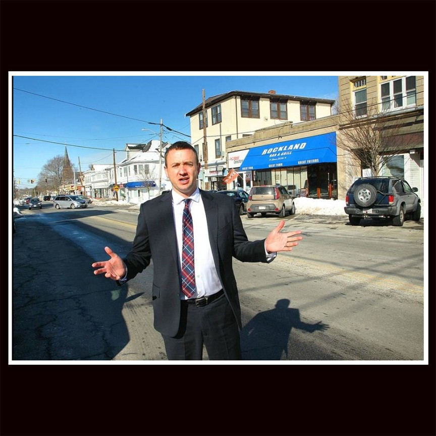 Johnny discussing the role of the Rockland Chamber of Commerce to revitalize Rockland center, February 14th, 2017