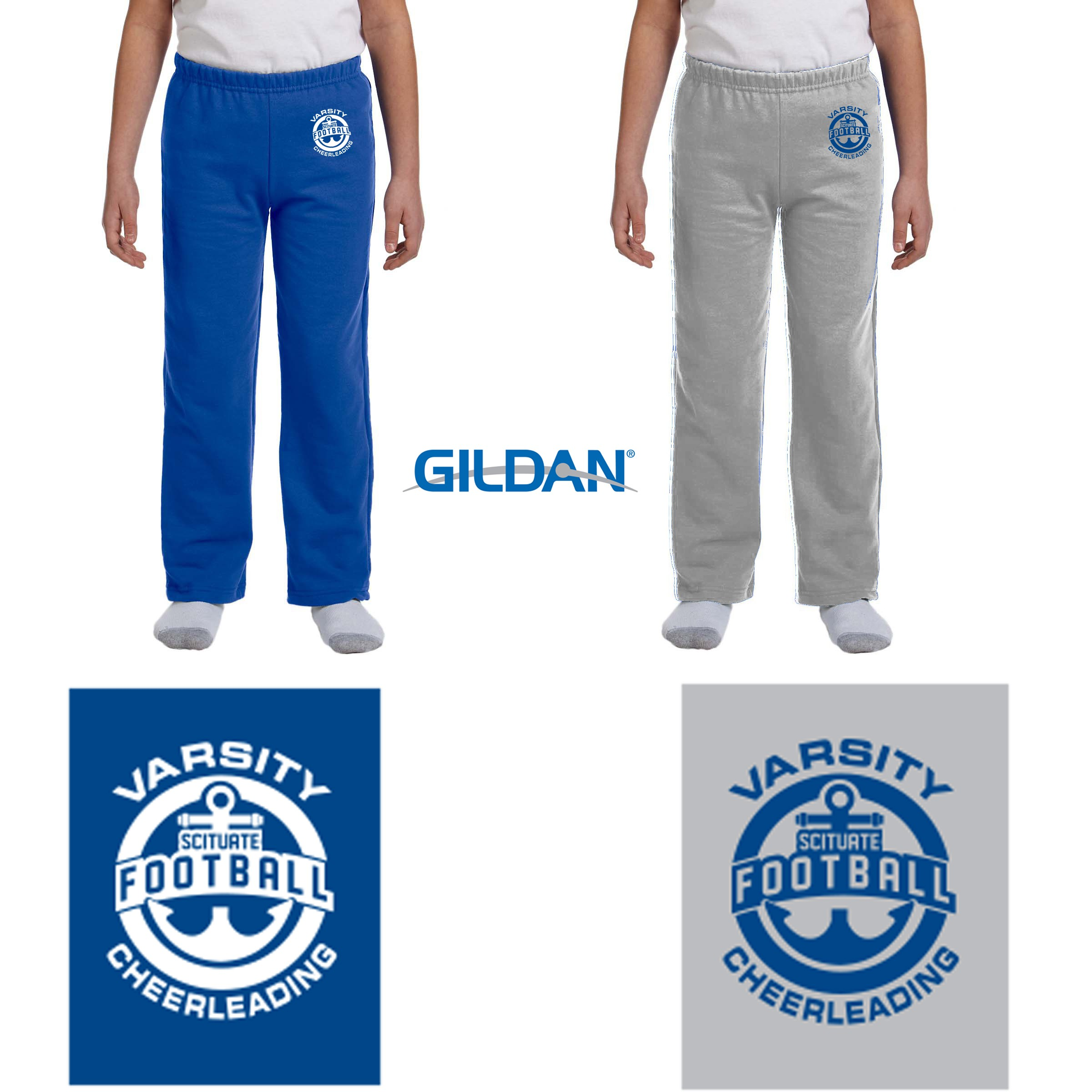 Gildan Kids Open Bottom Youth Sweatpants