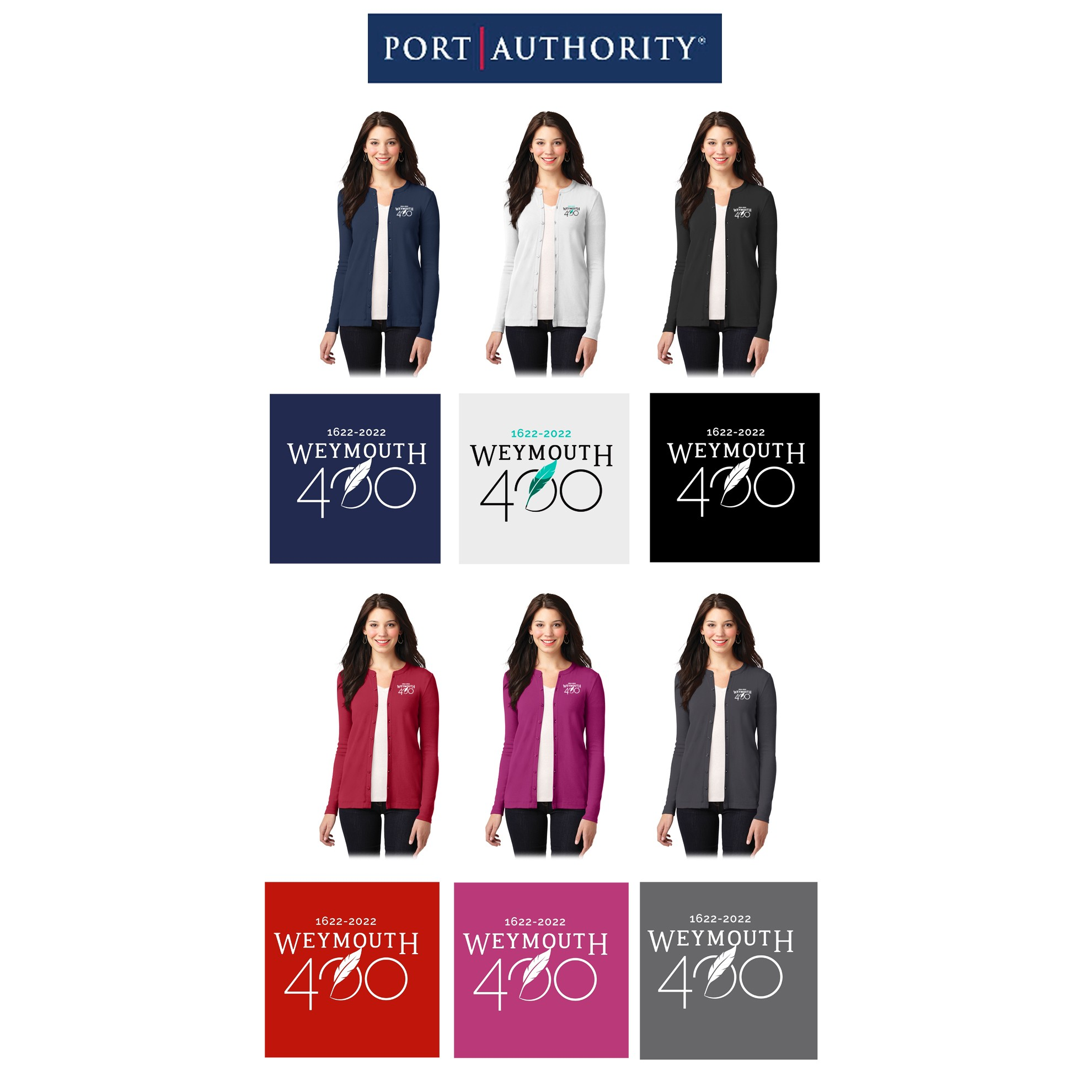 84c0a246fd64 Weymouth 400 Port Authority® Ladies Concept Stretch Button-Front Cardigan