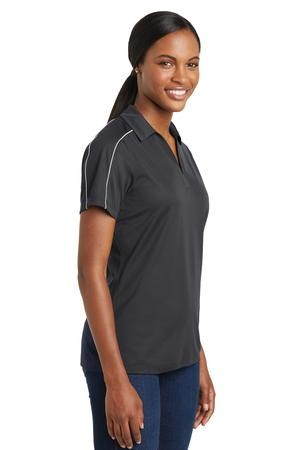Sport-Tek Ladies Micropique Sport Wick Piped Polo LST653