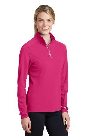 Sport-Tek® Ladies Sport-Wick® Textured 1/4-Zip Pullover LST860