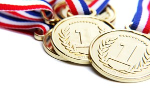 Sports Catalogue Brand Medals with Ribbons