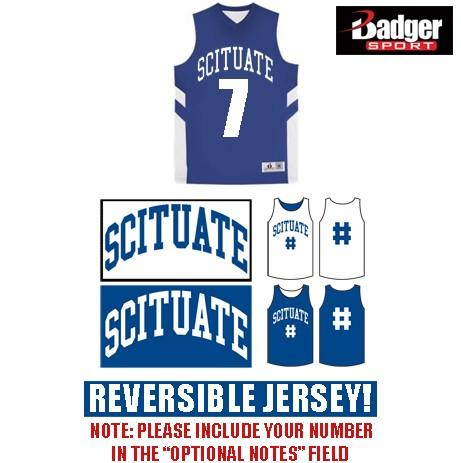 Scituate Basketball Badger B-Pivot Reversible Tank, Unisex Adult/Mens
