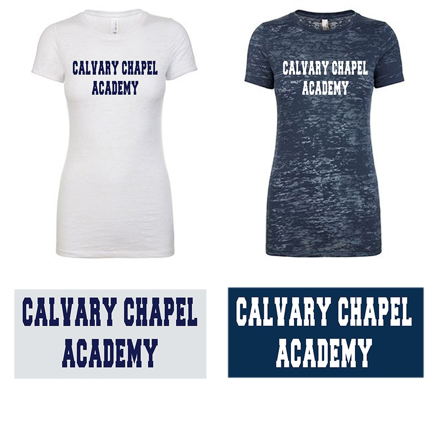 Calvary Chapel Academy Next Level Ladies' Premium Burn T-Shirt