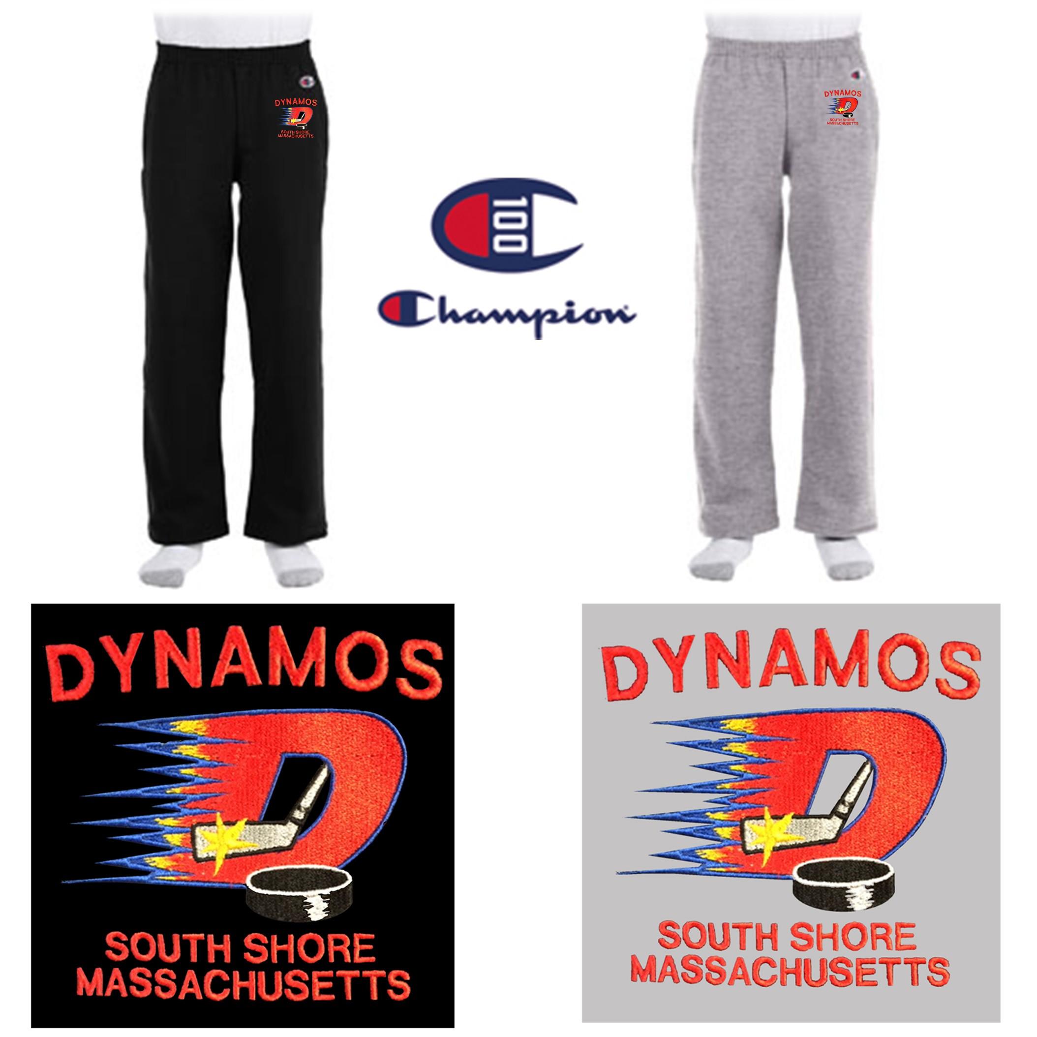 ff72c1928da6 Dynamos Hockey Champion Youth 9 oz. Double Dry Eco® Open-Bottom Fleece Pant