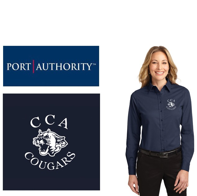 Calvary Chapel Academy Port Authority® Long Sleeve Easy Care Shirt, Ladies