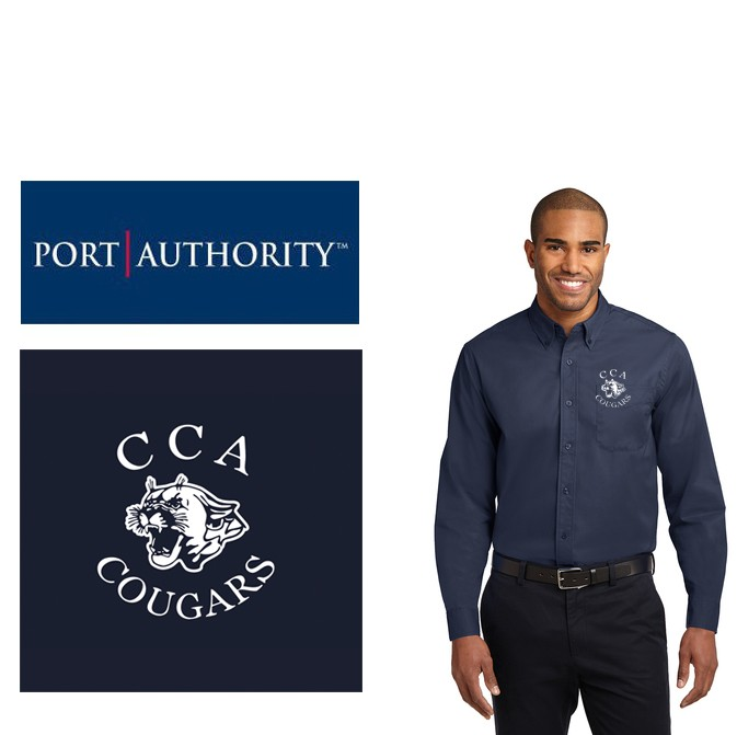 Calvary Chapel Academy Port Authority® Long Sleeve Easy Care Shirt, Mens