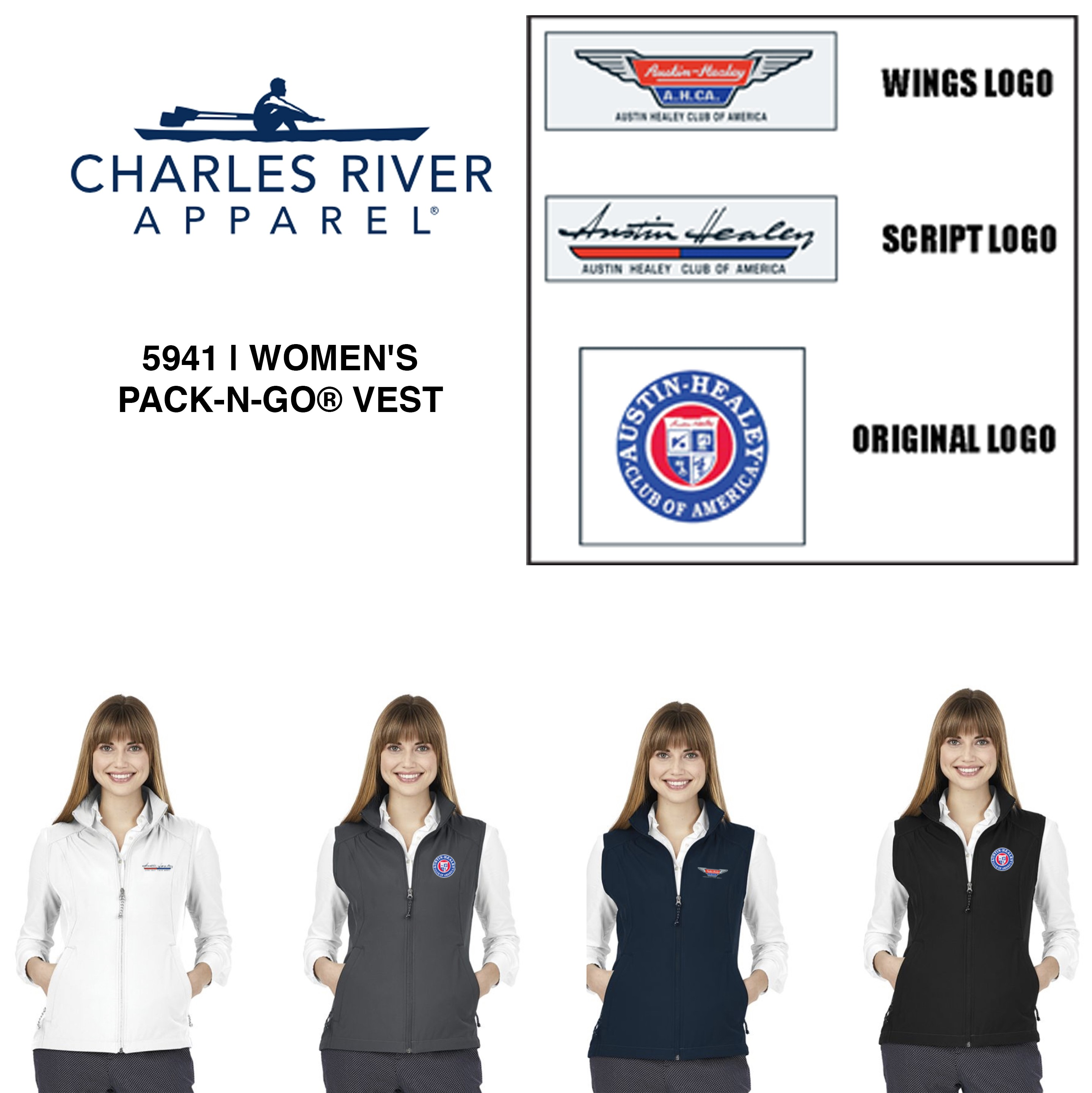 AHCA STEP- UP PROGRAM: Charles River Brand Woman's Pack-N-Go® Vest, Style #5141