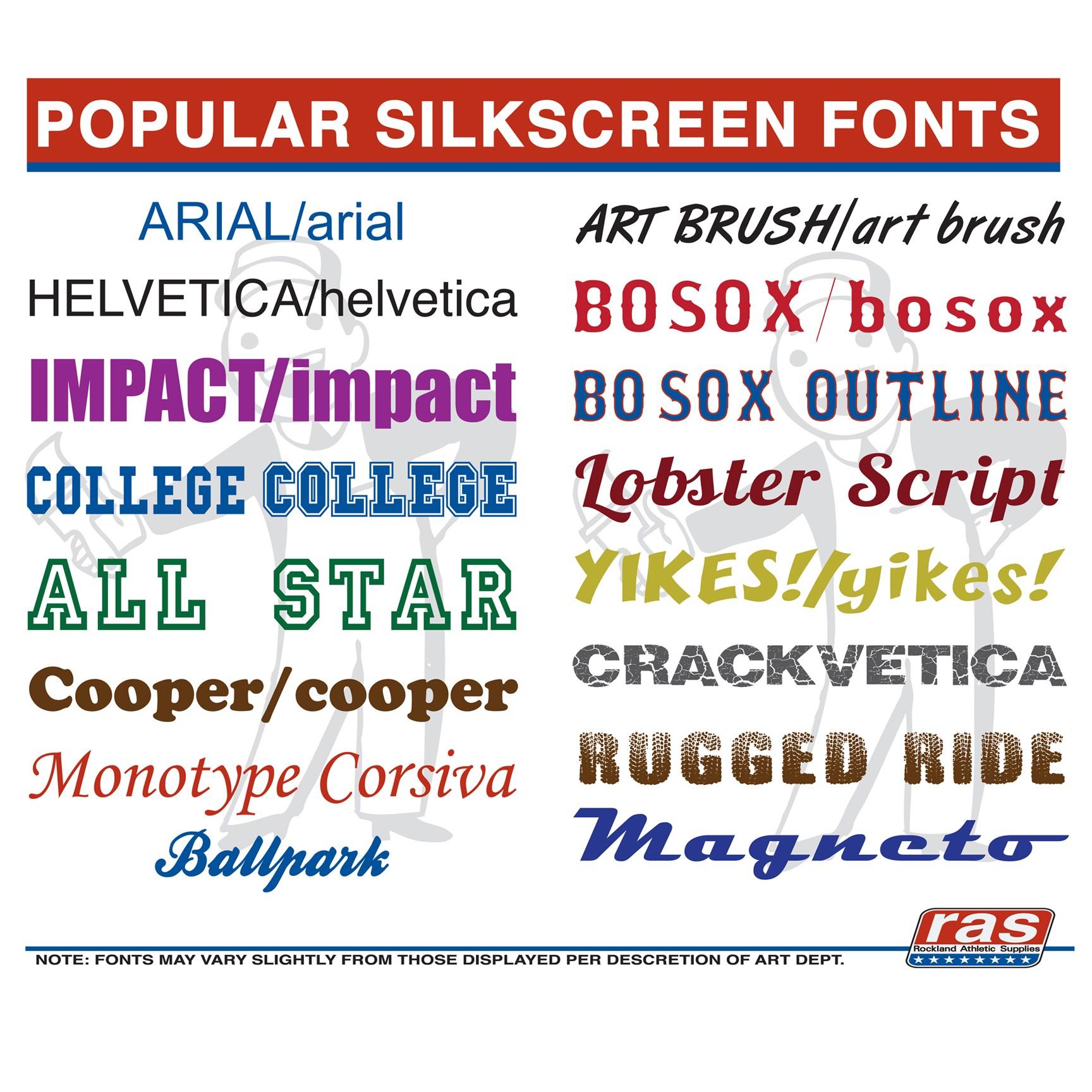 Popular Silkscreen Fonts