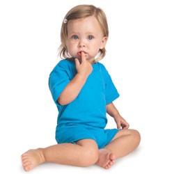 Rabbit Skins Infants' 5.5 oz. Jersey T-Shirt Romper Model 4426