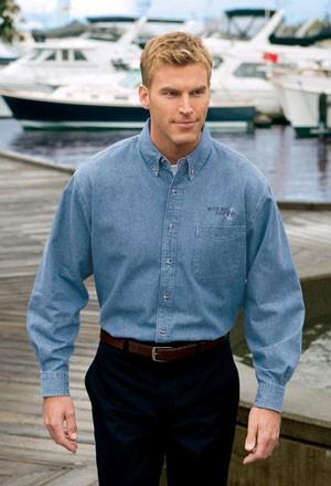 Port & Company® - Long Sleeve Value Denim Shirt SP10