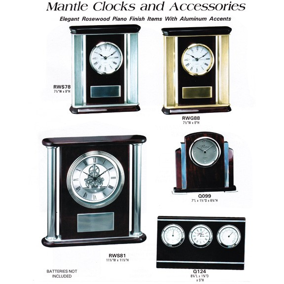 Marco Awards Brand Rosewood Piano Finish Mantle Clocks