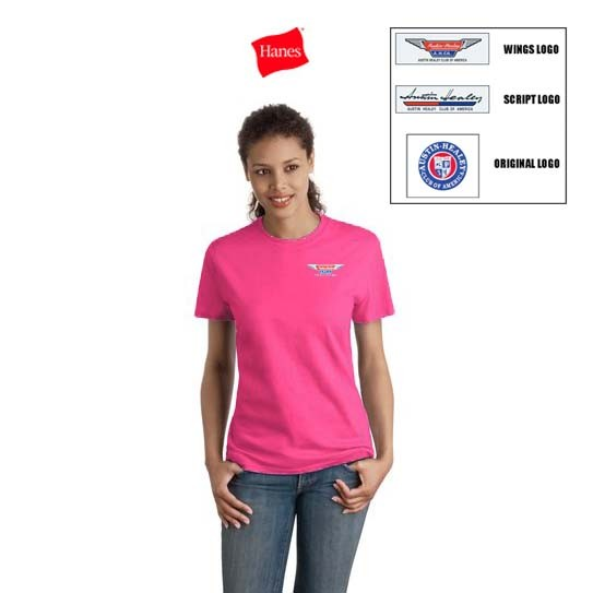 AHCA STEP- IN PROGRAM: Hanes Ladies' Nano-T Cotton T-Shirt With Embroidered Logo, Style #SL04