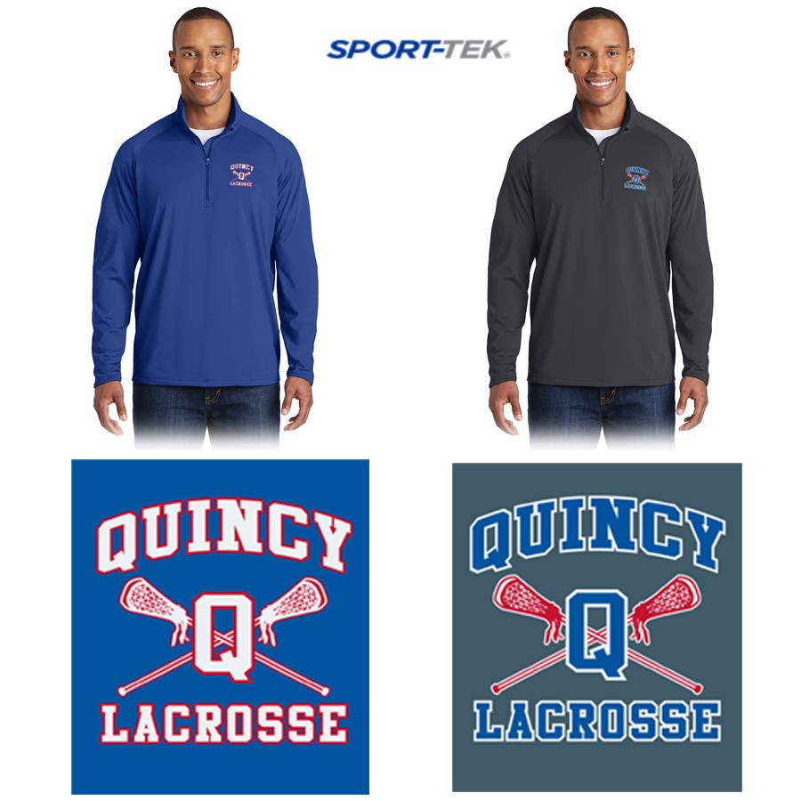 Quincy Lacrosse Sport Tek Sport Wick Stretch 1 2 Zip Pullover St850 Image not available for color: rockland athletics