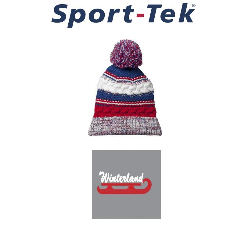 d0aae49a7b5 Winterland Skating School Sport-Tek® Pom Pom Team Beanie STC21