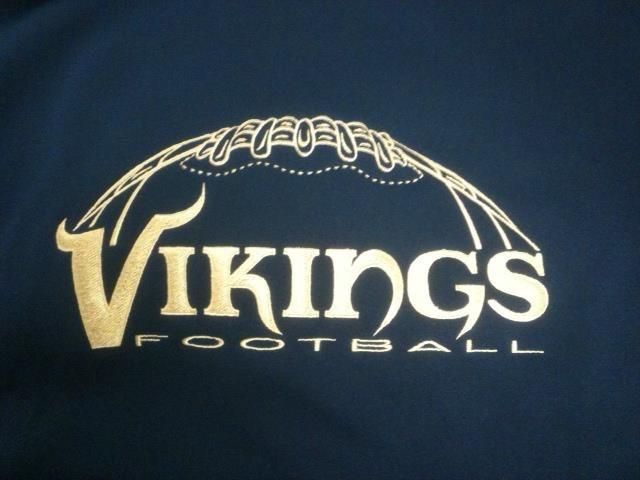 Vikings Football Custom Embroidery