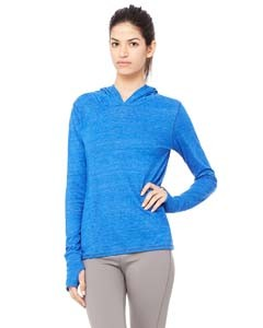 All Sport Ladies' Performance Triblend Long-Sleeve Hooded Pullover with Runner's Thumb