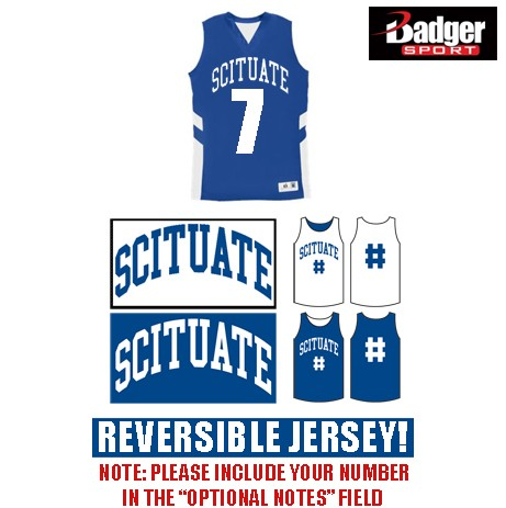 Scituate Basketball Badger B-Pivot Reversible Tank, Ladies