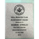 Hull Booster Club Plaque, Marble Engraved