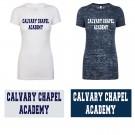 Calvary Chapel Academy Next Level Ladies' Premium Burn T-Shirt