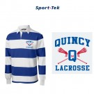 Quincy Lacrosse Sport-Tek® Long Sleeve Rugby Polo